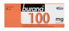 BURANA 100 mg purukaps, pehmeä 30 fol